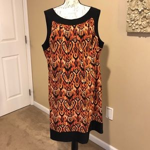 DRESSBARN Pocket Dress w/ Tribal Print. size 22